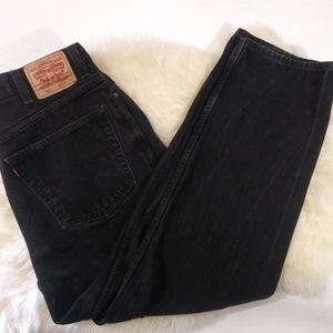 Levi's Relaxed 550 Black Jeans